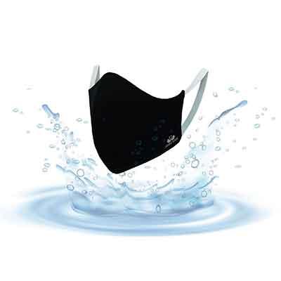 หน้ากากผ้า ตราห่านคู่ รุ่นสะท้อนน้ำ  SP013BL01-W1-F