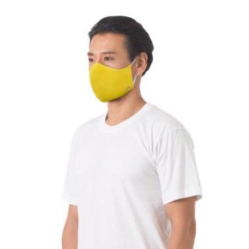 หน้ากากผ้า ตราห่านคู่ สีเหลือง ขนาด F