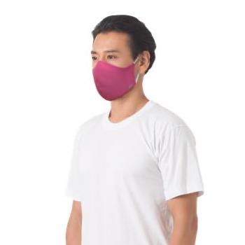 หน้ากากผ้า ตราห่านคู่ สีชมพู ขนาด F