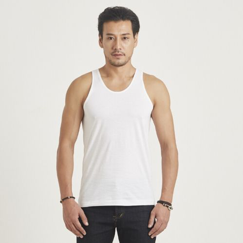 เสื้อกล้าม ห่านคู่คลาสสิก สีขาว Size XL เบอร์ 42