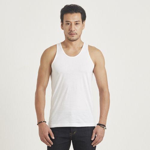 เสื้อกล้าม ห่านคู่คลาสสิก สีขาว Size 2XL เบอร์ 44