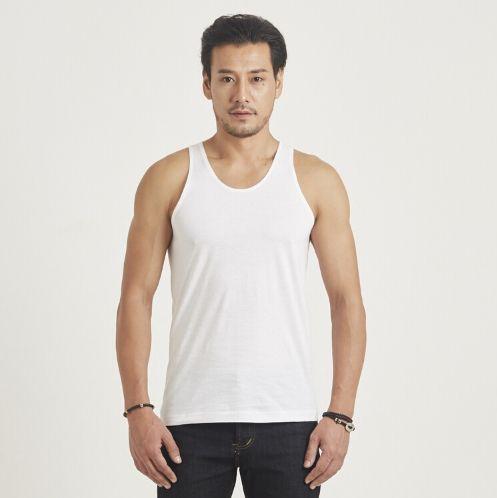 เสื้อกล้าม ห่านคู่คลาสสิก สีขาว Size 3XL เบอร์ 46