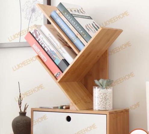 ชั้นวางหนังสือ ไม้แท้ ทรงY (Y book shelf)